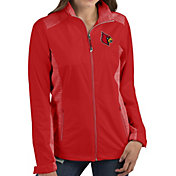 Antigua Women's Louisville Cardinals Red Revolve Full-Zip Jacket