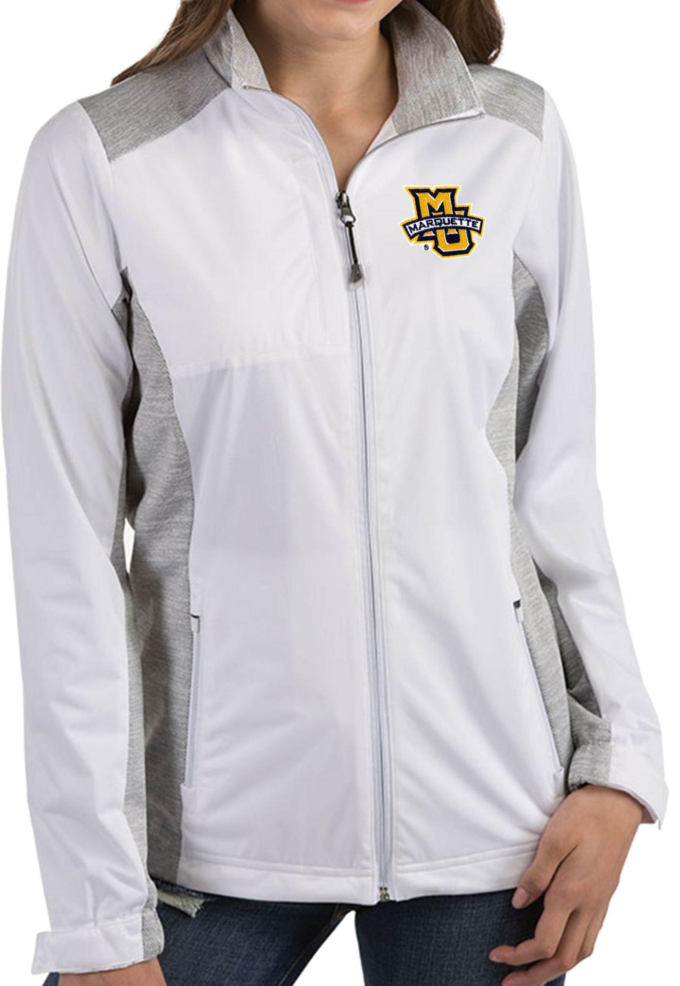 Antigua Women's Marquette Golden Eagles Revolve Full-Zip White Jacket