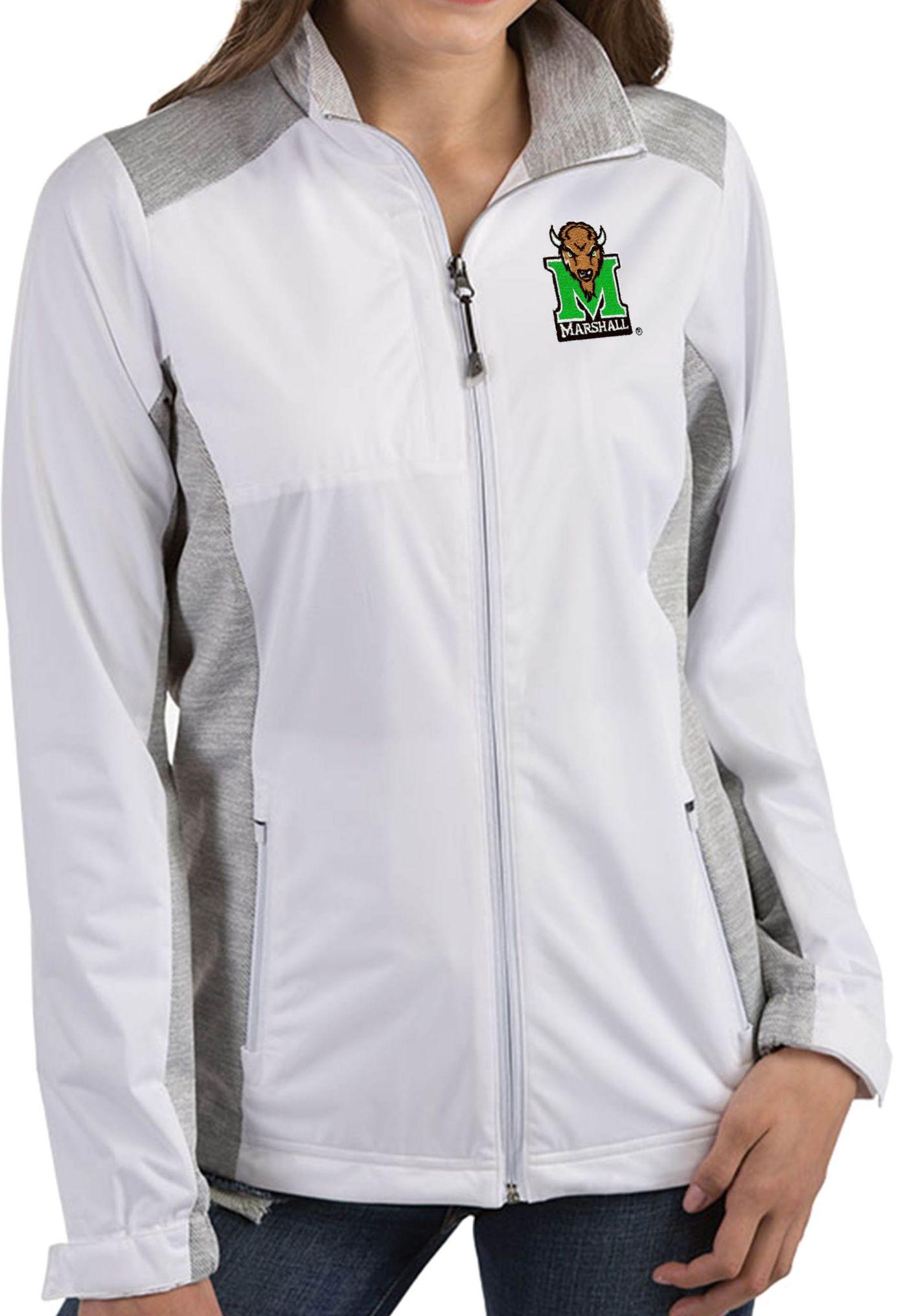 Antigua Women's Marshall Thundering Herd Revolve Full-Zip White Jacket