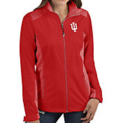 Antigua Women's Indiana Hoosiers Red Revolve Full-Zip Jacket