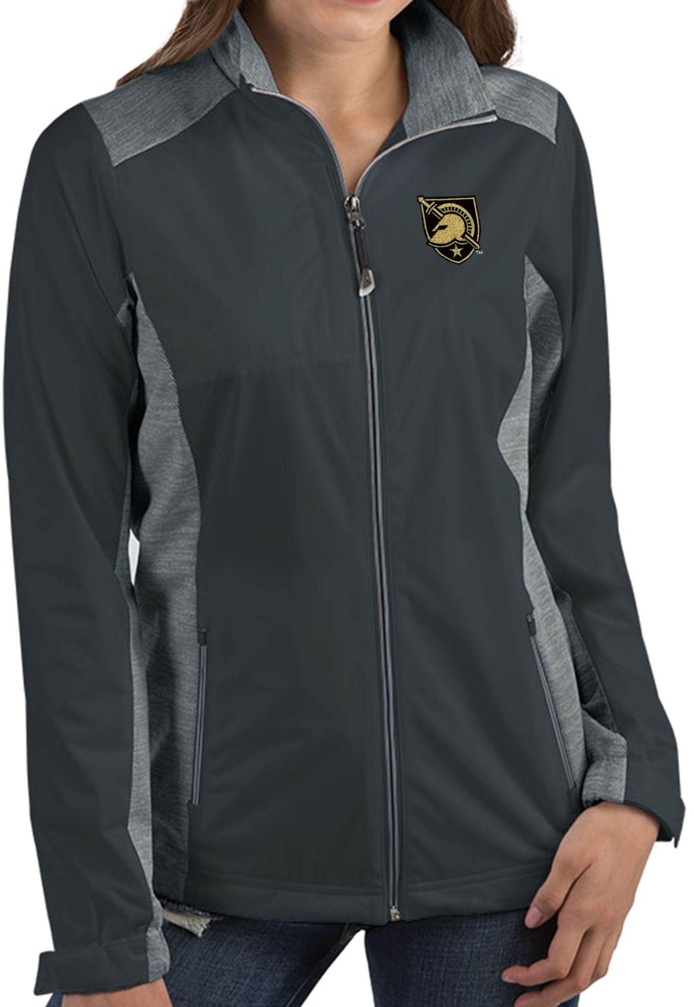 Antigua Women's Army West Point Black Knights Grey Revolve Full-Zip Jacket