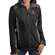 Antigua Women's San Diego State Aztecs Revolve Full-Zip Black Jacket