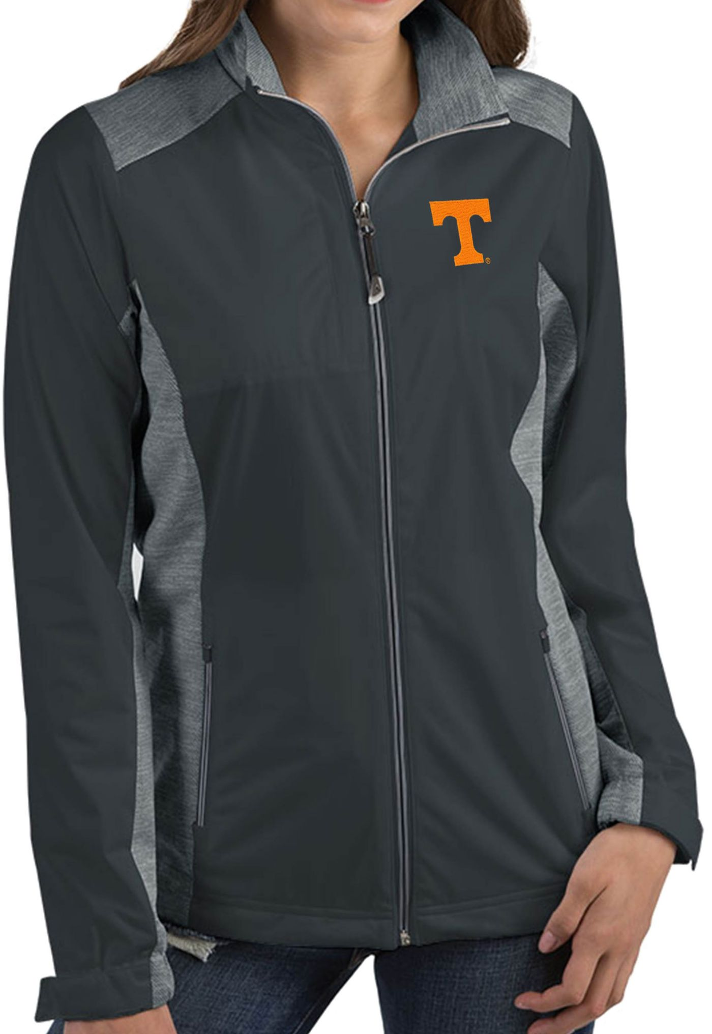 Antigua Women's Tennessee Volunteers Grey Revolve Full-Zip Jacket