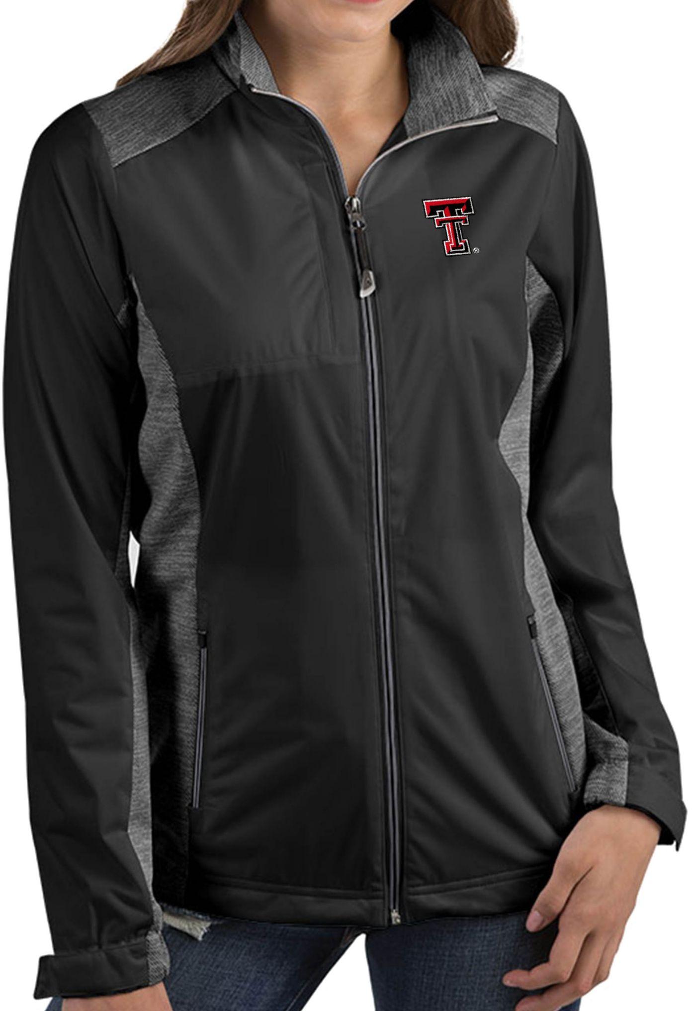 Antigua Women's Texas Tech Red Raiders Revolve Full-Zip Black Jacket