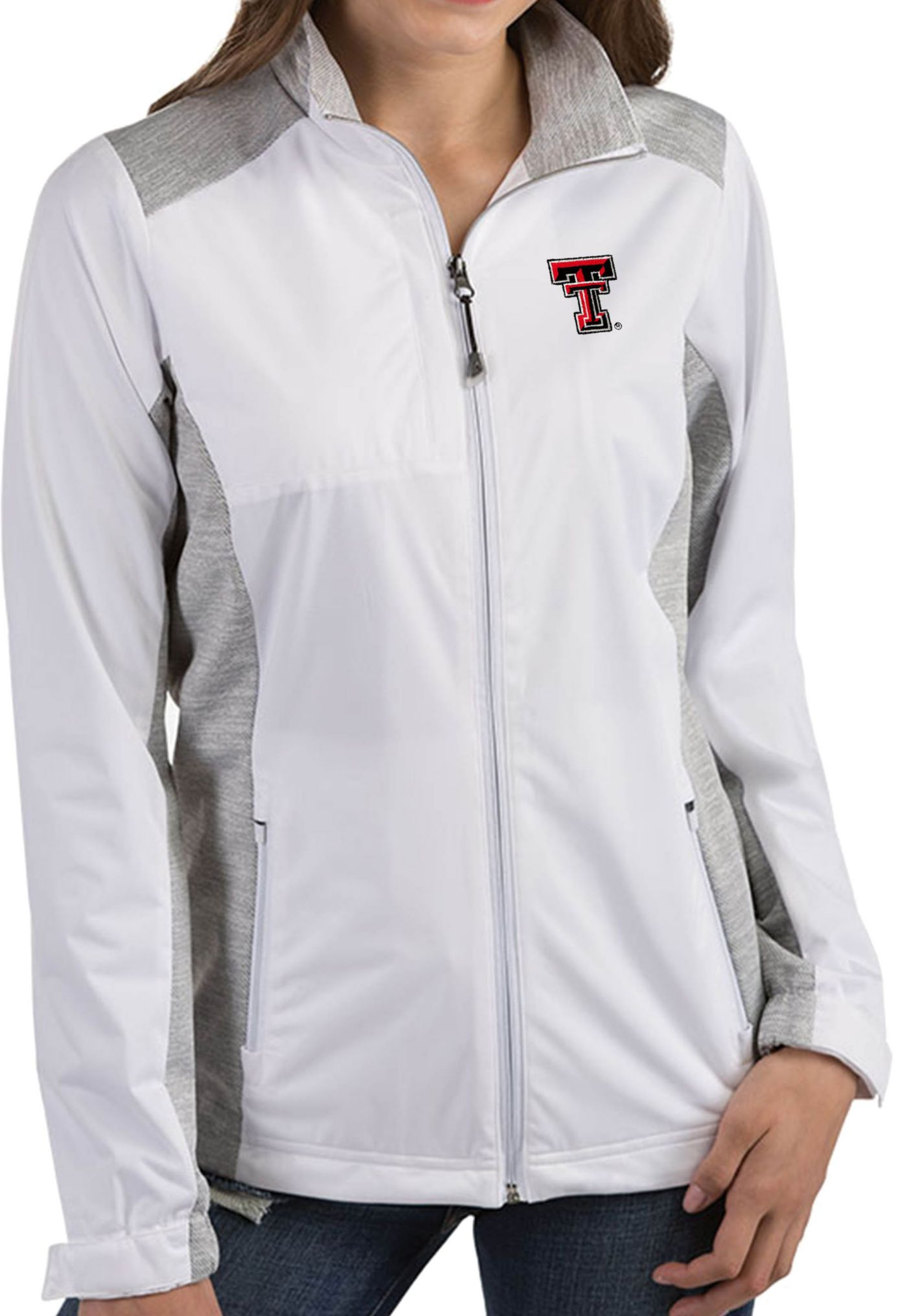 Antigua Women's Texas Tech Red Raiders Revolve Full-Zip White Jacket