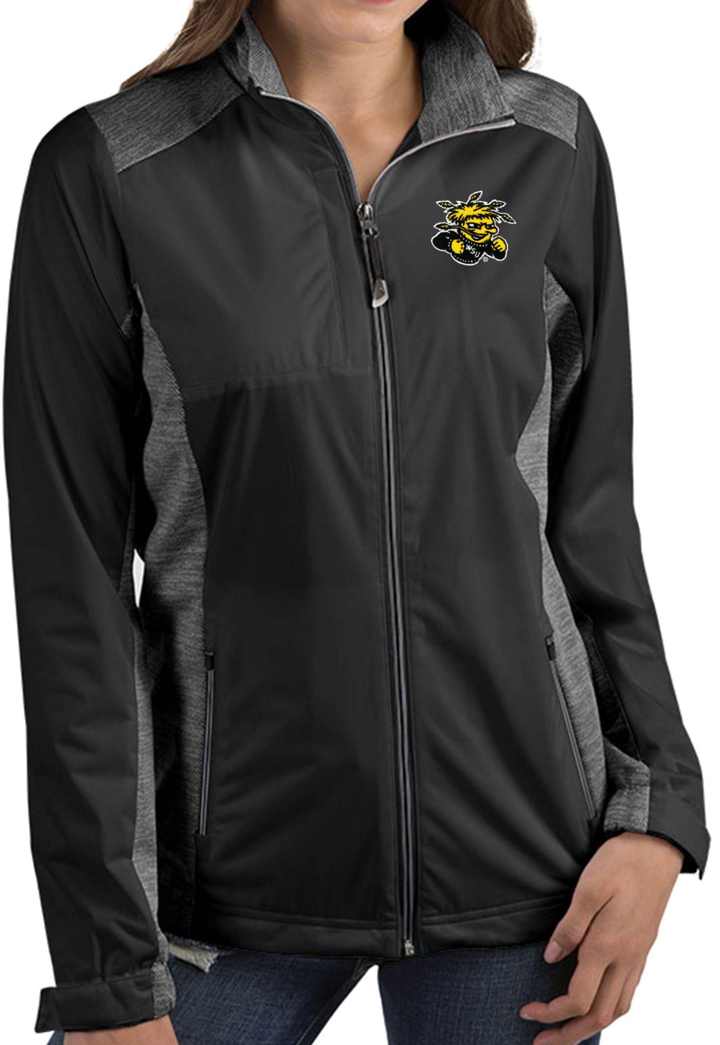 Antigua Women's Wichita State Shockers Revolve Full-Zip Black Jacket