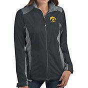 Antigua Women's Iowa Hawkeyes Grey Revolve Full-Zip Jacket