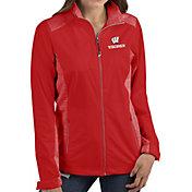 Antigua Women's Wisconsin Badgers Red Revolve Full-Zip Jacket