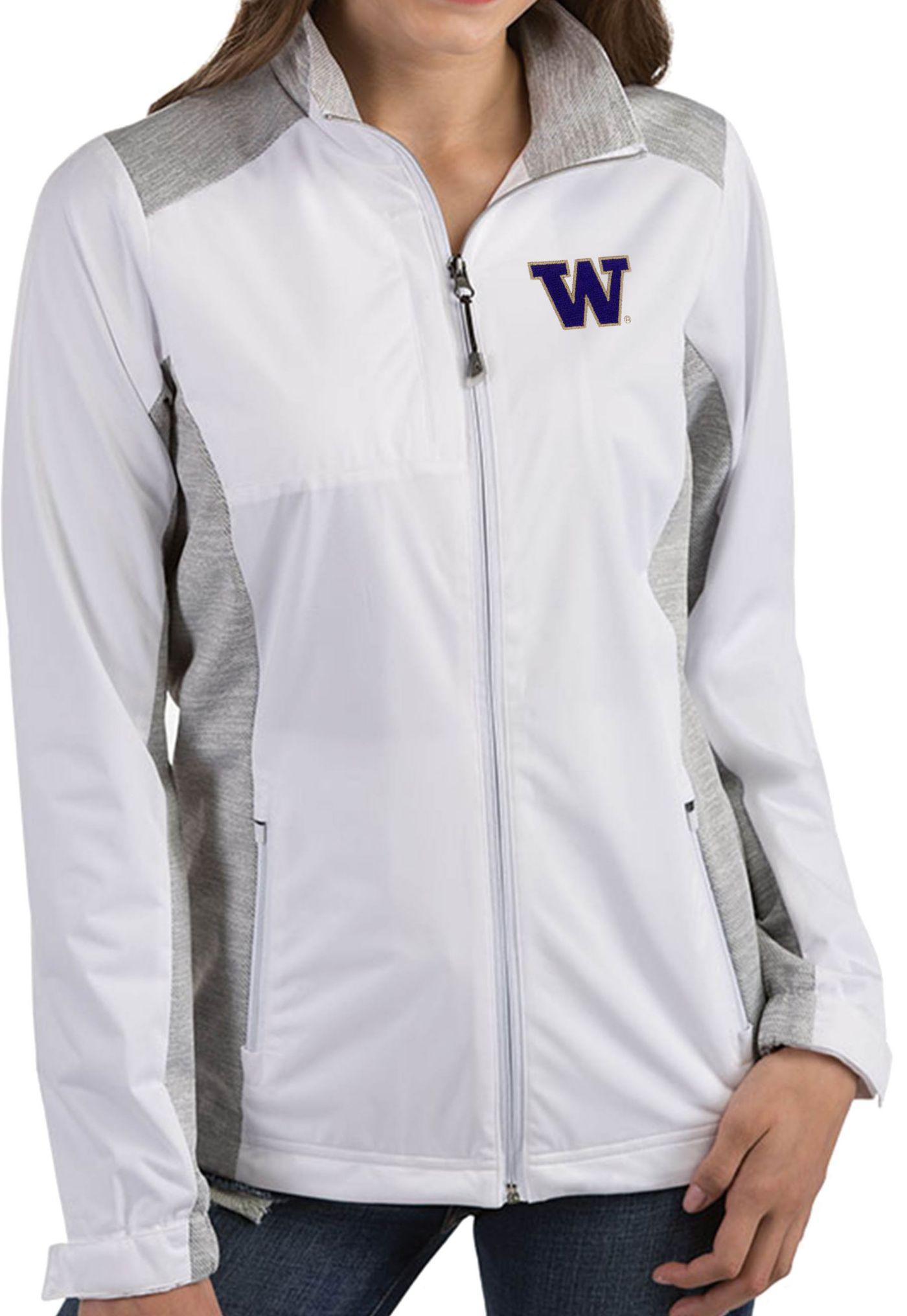 Antigua Women's Washington Huskies Revolve Full-Zip White Jacket