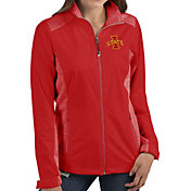 Antigua Women's Iowa State Cyclones Red Revolve Full-Zip Jacket
