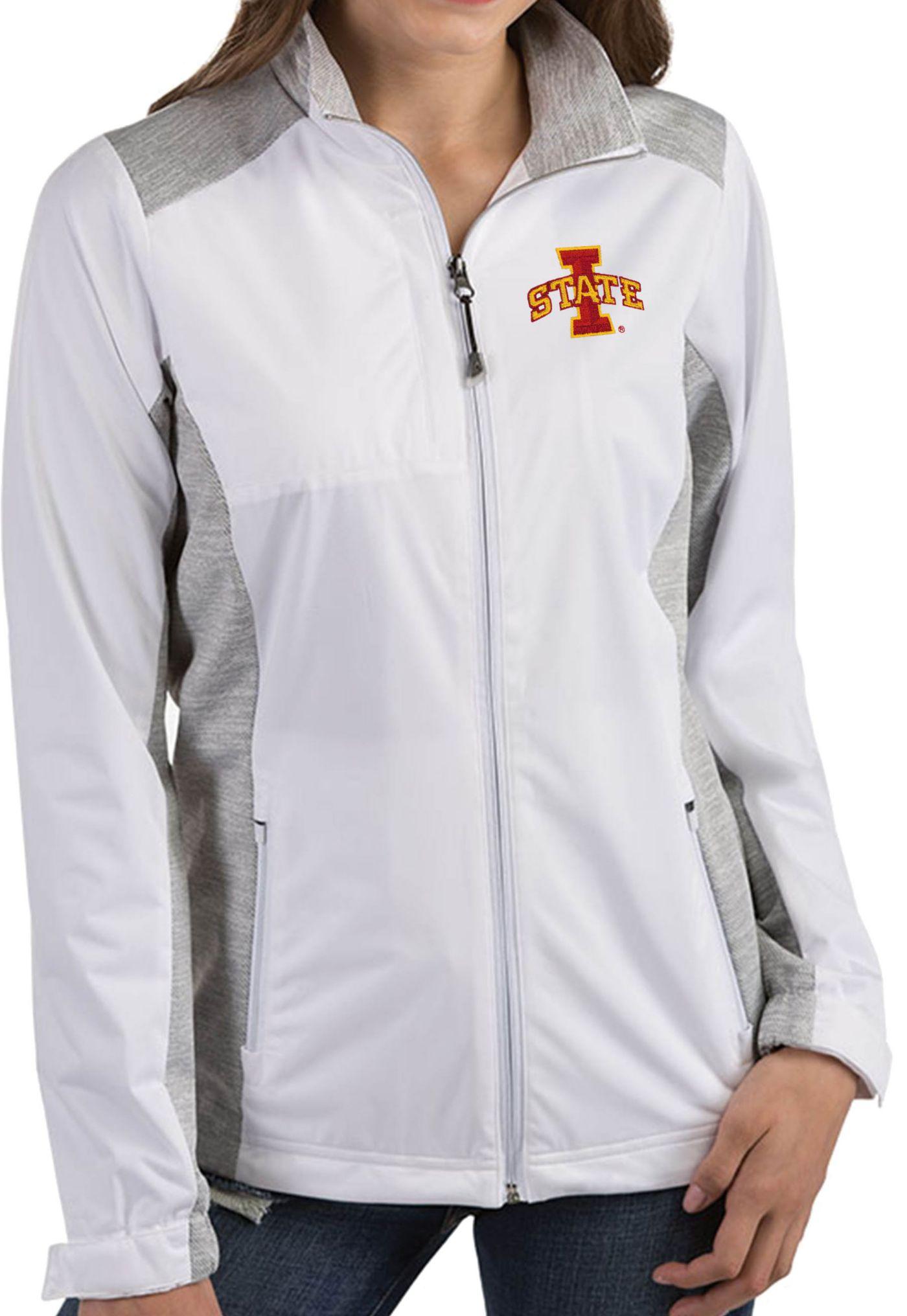Antigua Women's Iowa State Cyclones Revolve Full-Zip White Jacket