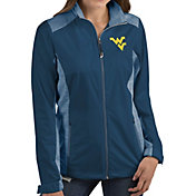 Antigua Women's West Virginia Mountaineers Blue Revolve Full-Zip Jacket