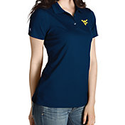 Antigua Women's West Virginia Mountaineers Blue Inspire Performance Polo