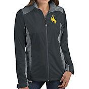 Antigua Women's Wyoming Cowboys Grey Revolve Full-Zip Jacket
