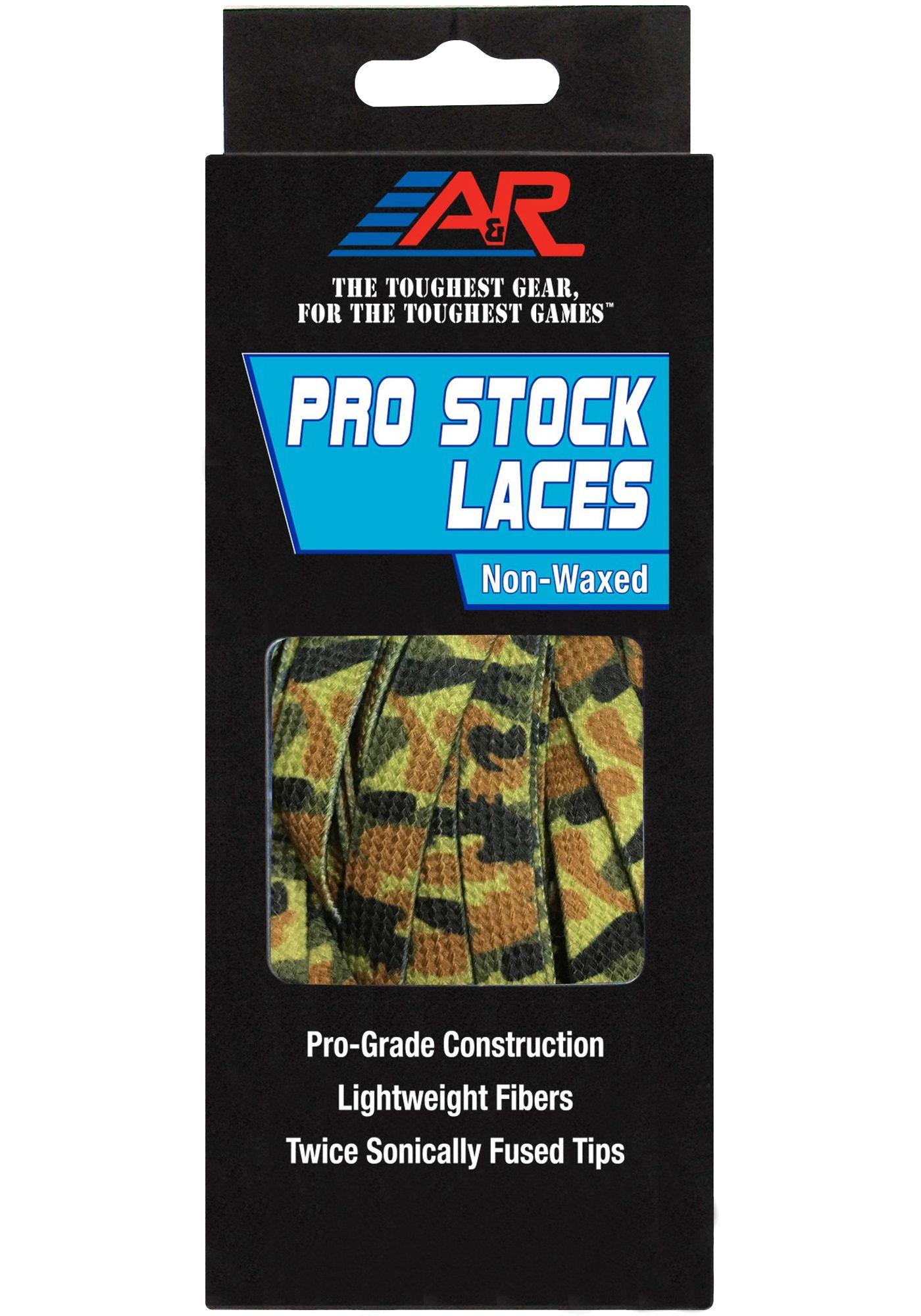A&R Pro-Stock Non-Waxed Camo Hockey Skate Laces