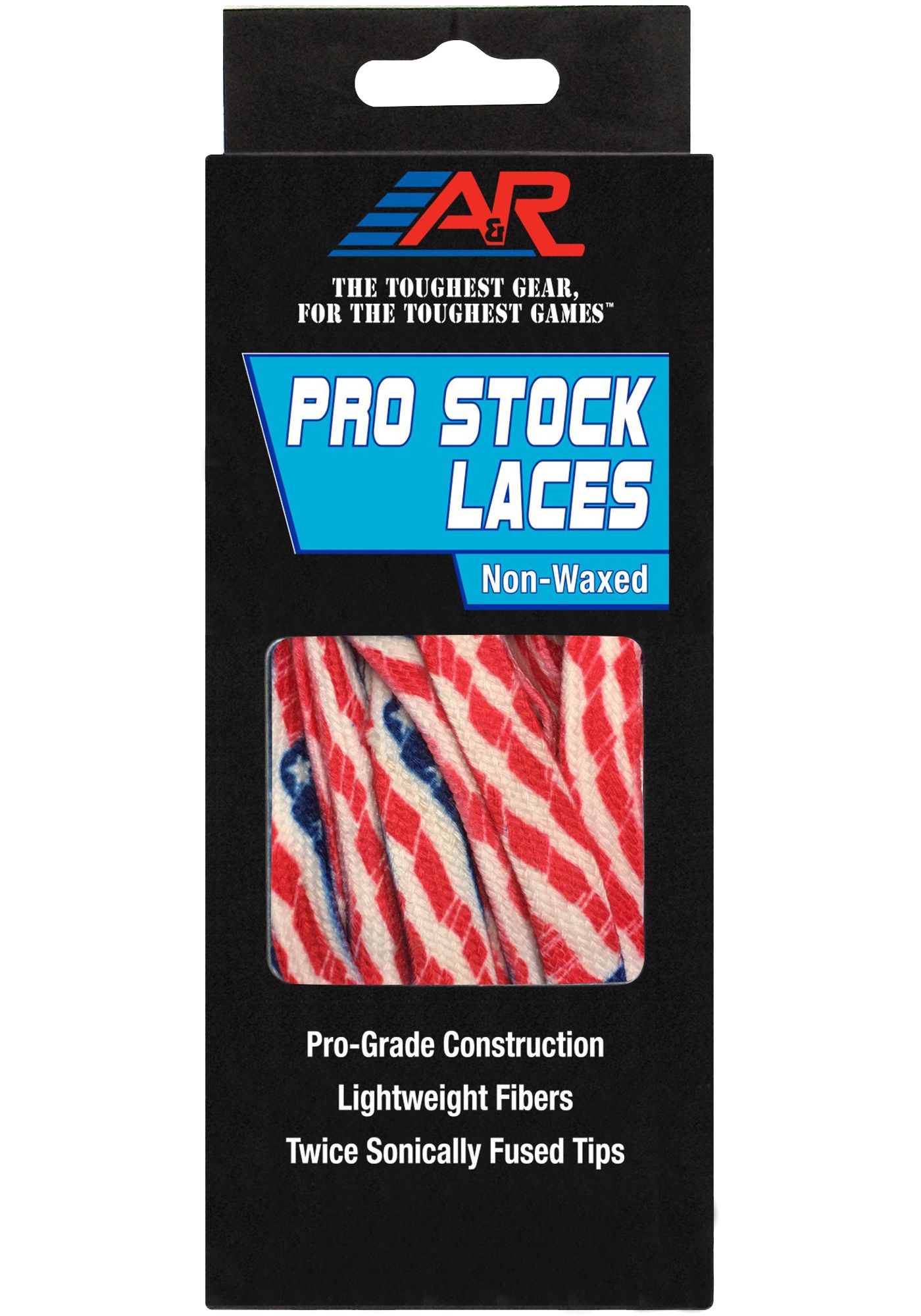 A&R Pro-Stock Non-Waxed Flag Hockey Skate Laces