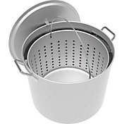 LoCo 100-Quart Aluminum Pot with Strainer