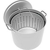 LoCo 80-Quart Aluminum Pot with Strainer