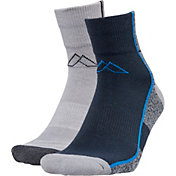 Alpine Design Men's 2 Pack Quarter Hiking Socks