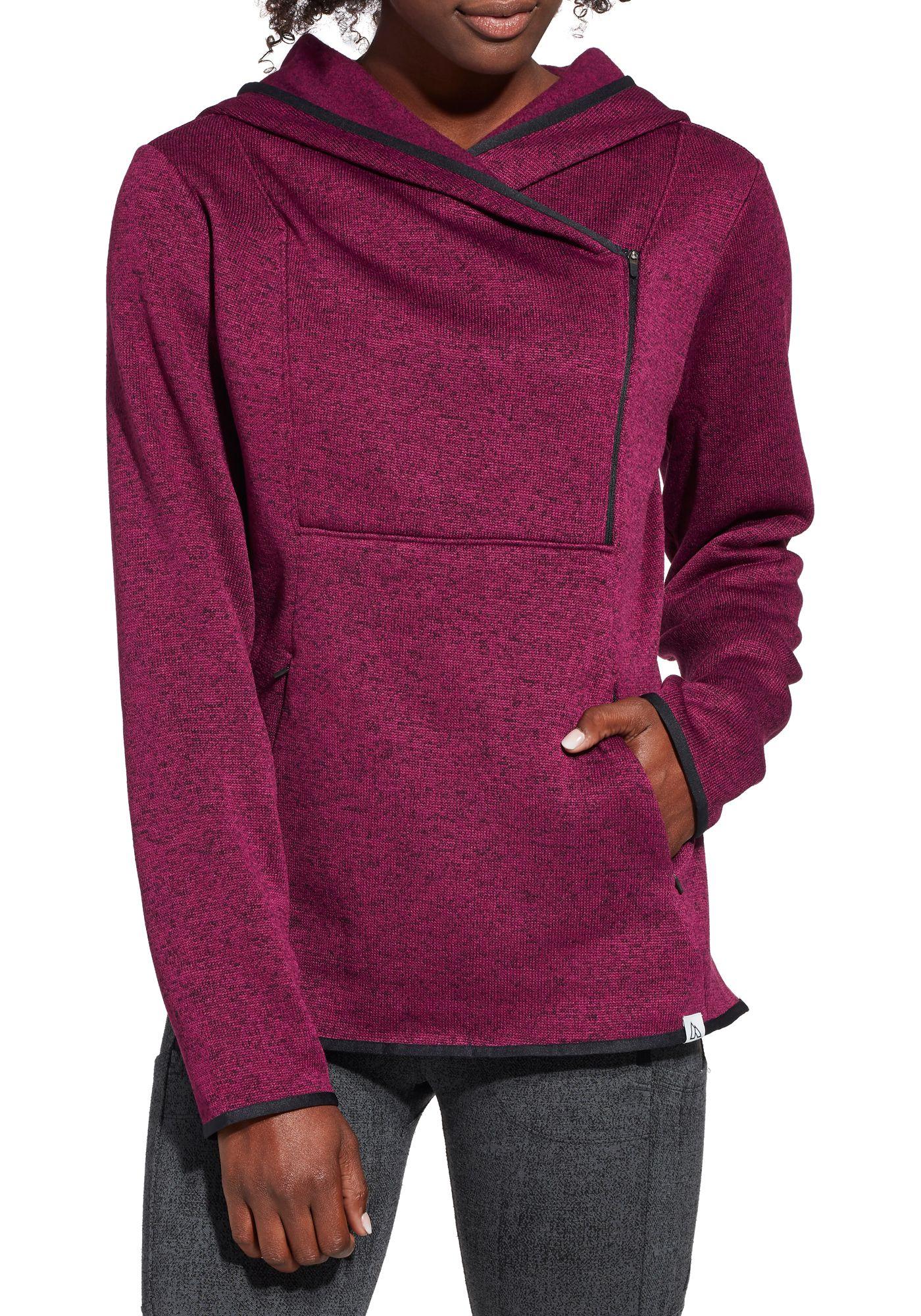 Alpine Design Women's Sweater Face Asymmetrical Fleece Hoodie