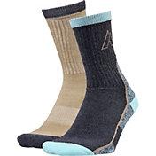 Alpine Design Women's Crew Hiking Socks - 2 Pack