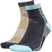 Alpine Design Women's 2 Pack Quarter Hiking Socks