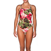 arena Women's Palm Challenge MaxLife Thin Strap Open Back Swimsuit