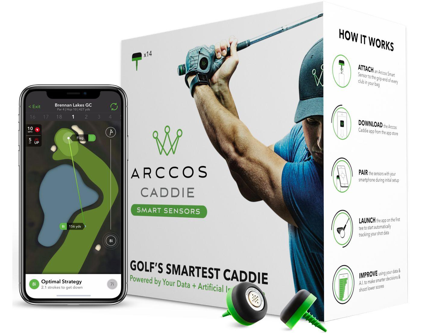 Arccos Caddie Smart Sensor Golf Performance Tracking System