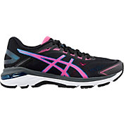 ASICS Women's GT 2000 7 Running Shoes in Black/Pink/Blue