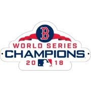 Authentic Street Signs 2018 World Series Champions Boston Red Sox Steel Logo Sign