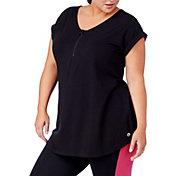 Rainbeau Curves Women's Plus Size Bel-Air Zip Front T-Shirt