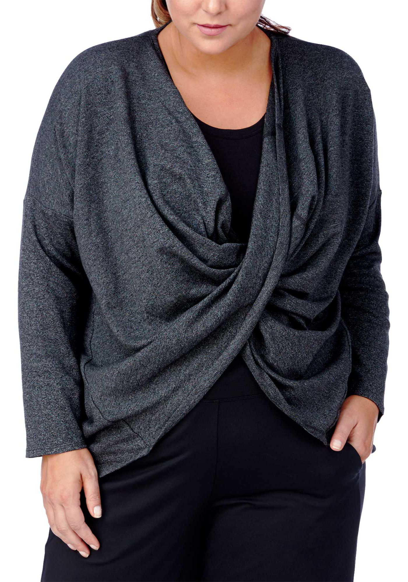 Rainbeau Curves Women's Plus Size Magnolia Twist Top