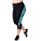 Rainbeau Curves Women's Plus Size Printed Tia Compression Capris