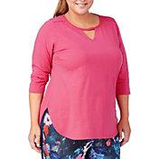 Rainbeau Curves Women's Plus Size Vera 3/4 Sleeve T-Shirt
