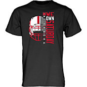 Blue 84 Men's Nebraska Cornhuskers Deviant Football Black T-Shirt