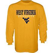 Blue 84 Men's West Virginia Mountaineers Gold Wordmark Long Sleeve Tee