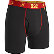 2UNDR Men's USC Trojans Swing Boxer Black Briefs