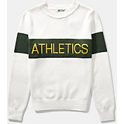 Hillflint Women's Oakland Athletics Retro Stripe Sweater