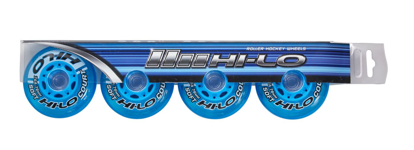 Bauer HI-LO Court 80MM Roller Hockey Wheels – 4 Pack