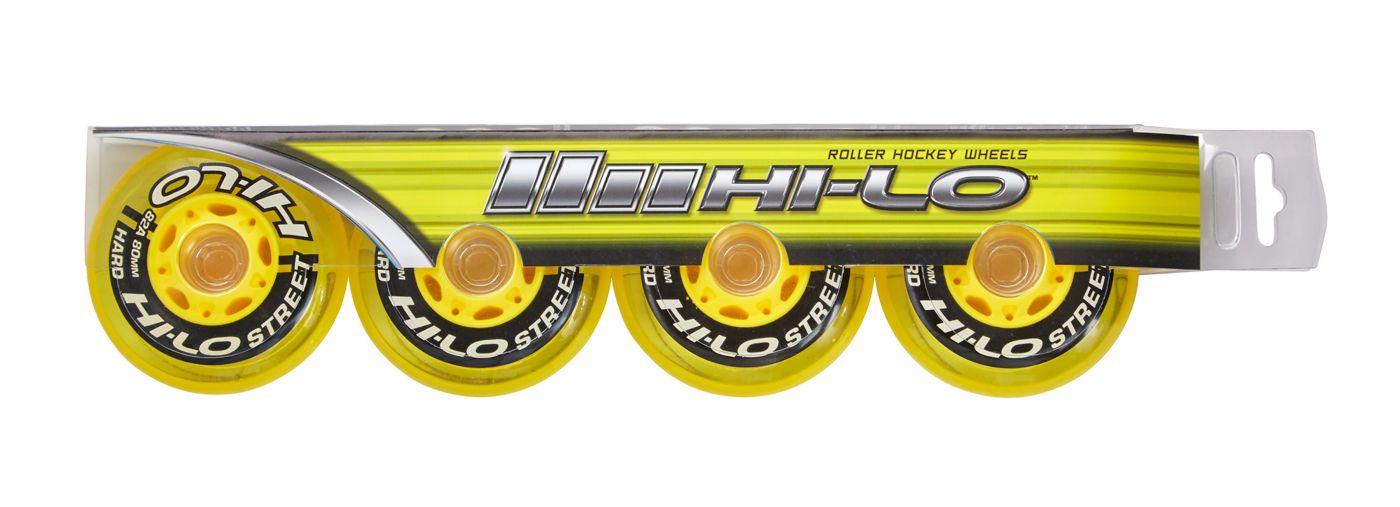 Bauer HI-LO Street 80MM Roller Hockey Wheels – 4 Pack