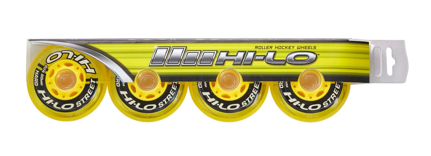 Bauer HI-LO Street 72MM Roller Hockey Wheels – 4 Pack