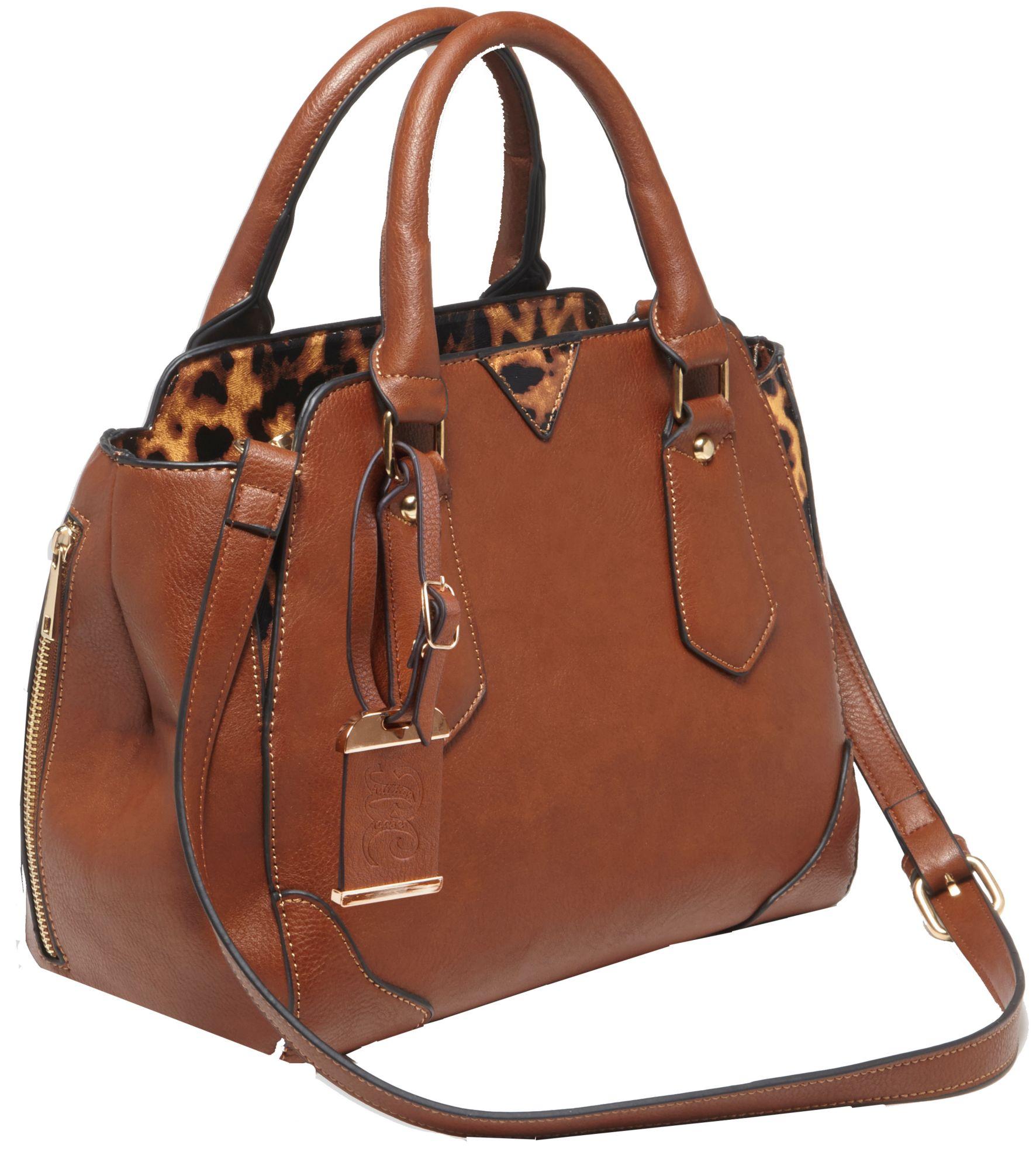 Bulldog Cases Satchel Style Concealed Carry Handbag, Women's, Size: Medium, Brown thumbnail