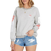 Billabong Women's Two Tone Logo Crew Pullover