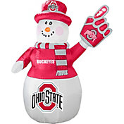 Boelter Ohio State Buckeyes 7' Inflatable Snowman