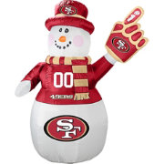 Boelter San Francisco 49ers 7' Inflatable Snowman