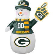 Boelter Green Bay Packers 7' Inflatable Snowman