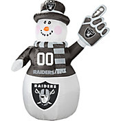 Boelter Oakland Raiders 7' Inflatable Snowman