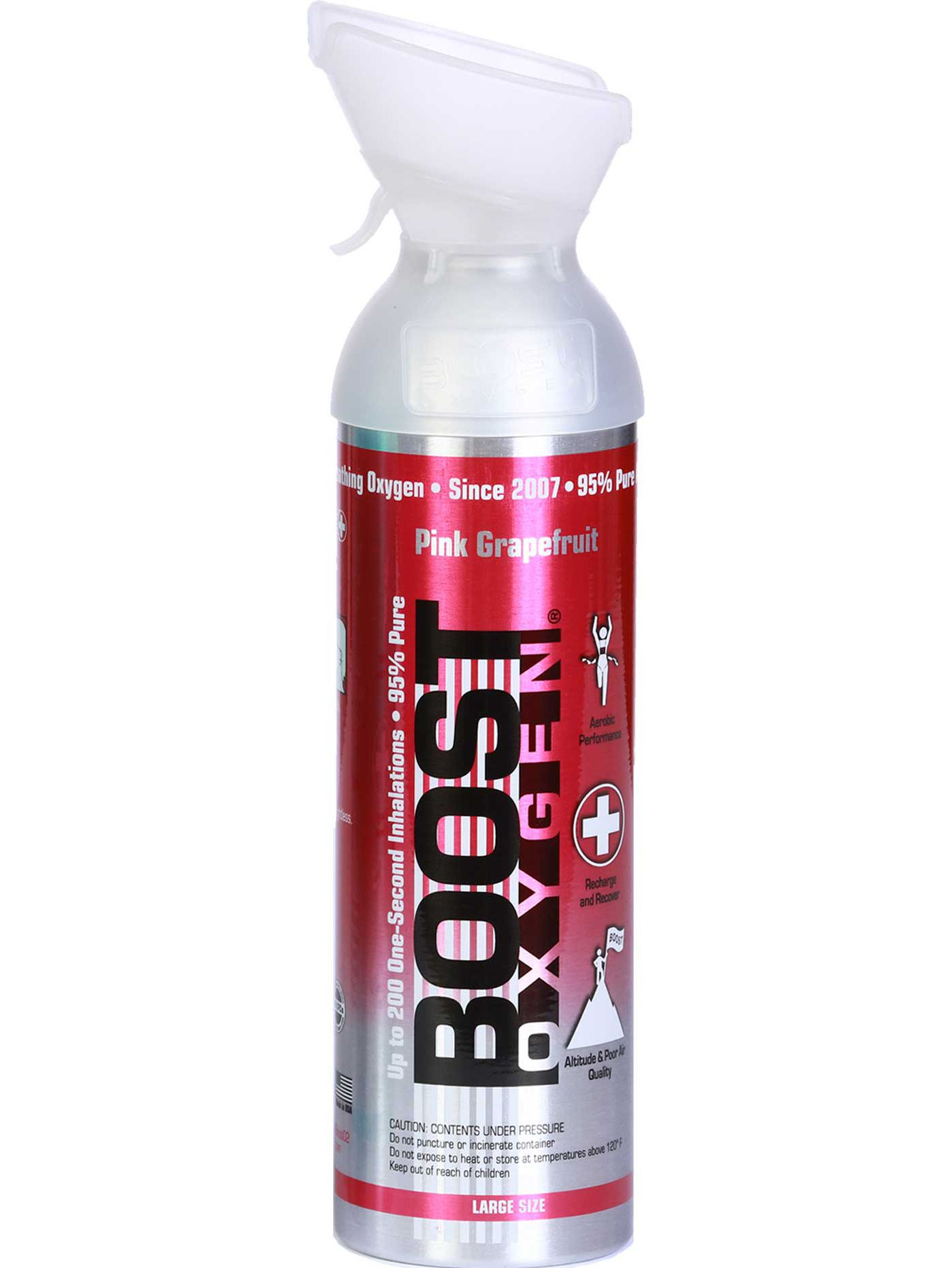 Boost Oxygen Pink Grapefruit Aviator's Breathing Oxygen