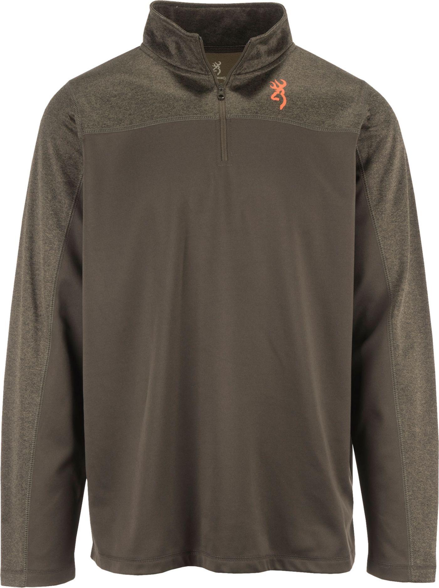 Browning Men's Milo Quarter-Zip Fleece Pullover Shirt