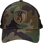 Browning Men's Stealth Green Camo Patch Hat